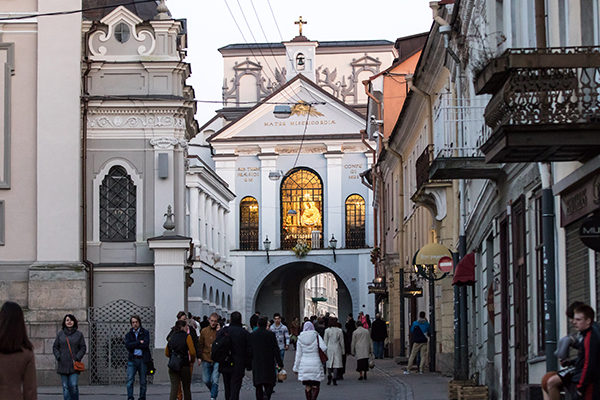 Gate of Dawn and St. Theresa's church in Vilnius